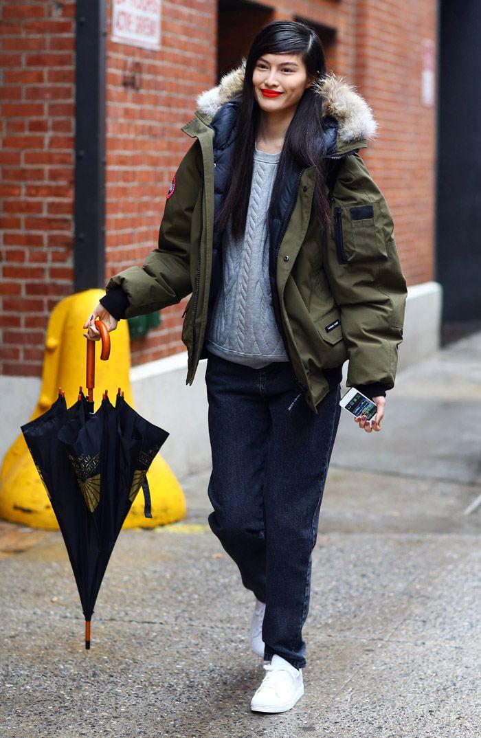 Sui He, Canada Goose Parka | Street Fashion | Street Peeper | Global Street Fashion and Street Style