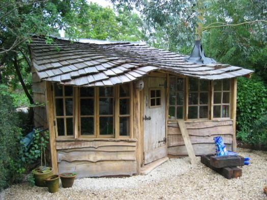 Housetree, Eco Shed from bottom of garden #shedoftheyear Readersheds.co.uk