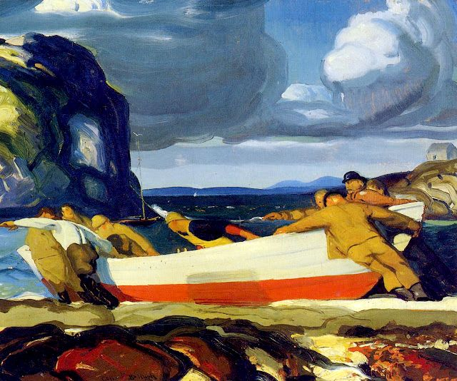 George Bellows (1882-1925). The Big Dory, 1913. Oil on panel, 45.7 x 55.9 cm.