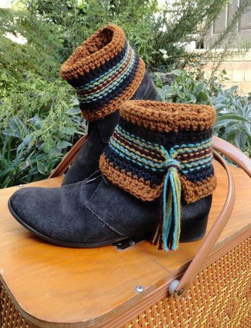 Letras e Artes da Lalá: boot cuff