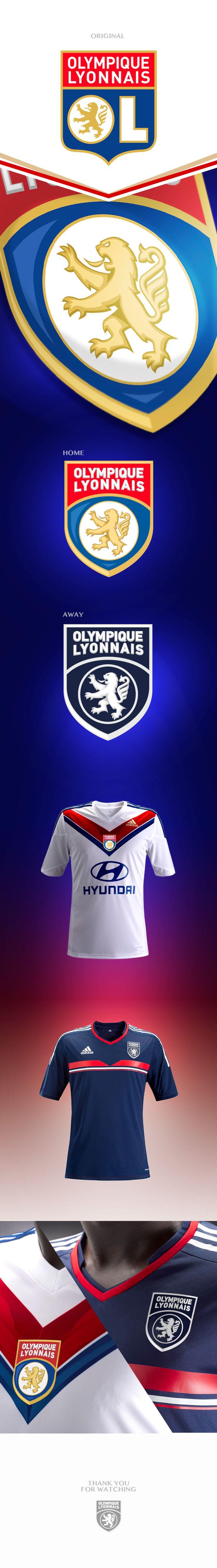 Concept logo of Olympic Lyonnais Football Club.