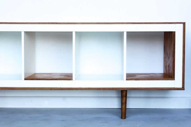 Ex Ikea Upright Bookcases now Mid Century Modern Sideboards