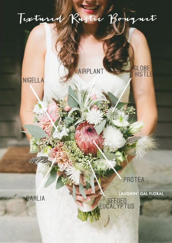 Textured Rustic Bridal Bouquet Recipe | Simply Peachy Wedding Blog