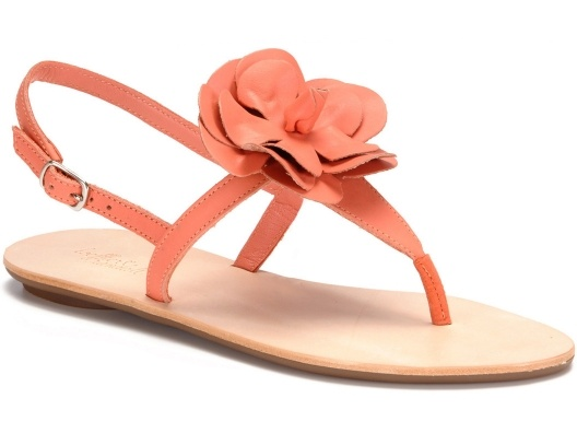{Serafina Plank Sandal} such a pretty addition to a summer dress :): Flowers Sandals, Leather Flowers, Fashion Style, Planks Sandals, Serafina Planks, Flats Sandals, Cute Sandals, Coral Color, Coral Sandals
