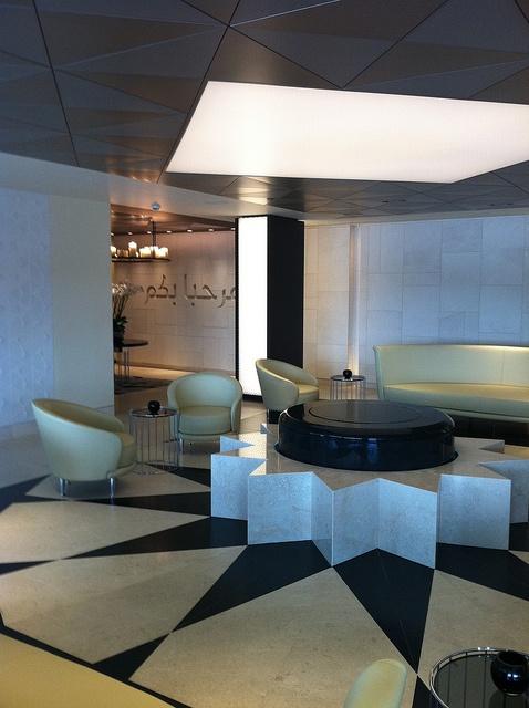 Qatar Airways Business Class Lounge Heathrow Airport By Mark Burns Via Flickr