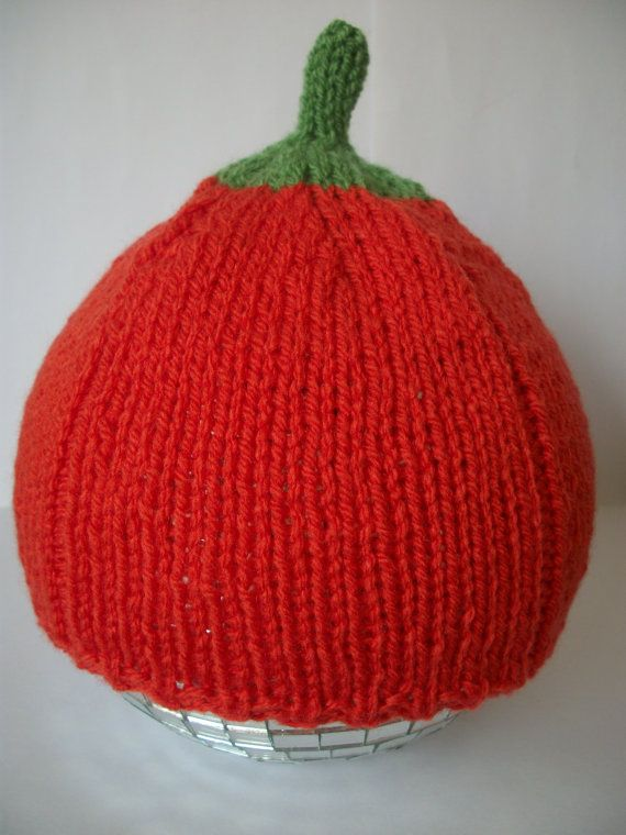 Baby Pumpkin Hat Hand Knitted  06 612 month by thekittensmittensuk, $14.00