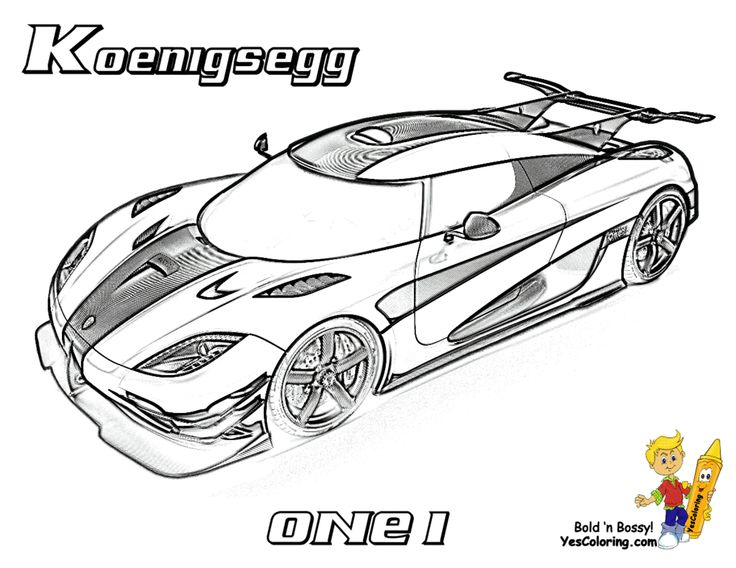Full Force Race Car Coloring Koenigsegg ONE1