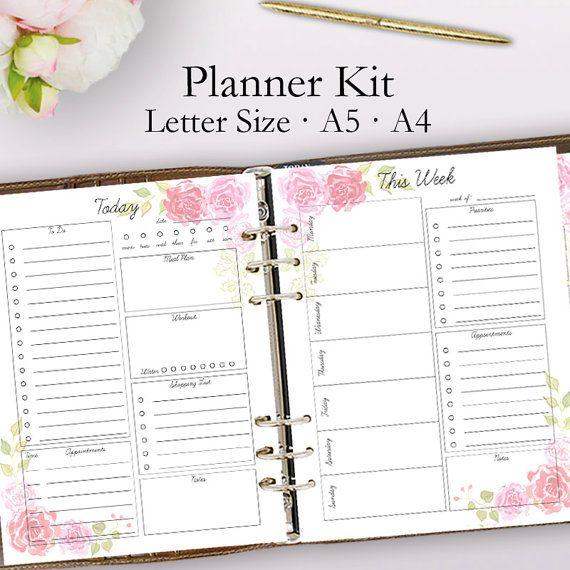 Best 25+ Daily Planner Pages Ideas Only On Pinterest | Planner