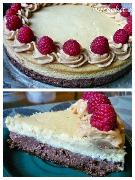 Dvojfarebný cheesecake - Recept