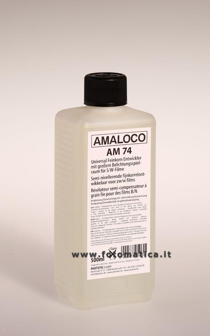 Sviluppo universale semi-compensatore a grana fine per tutte le pellicole BN.  http://www.fotomatica.it/contents/it/d138_chimici_amaloco.html