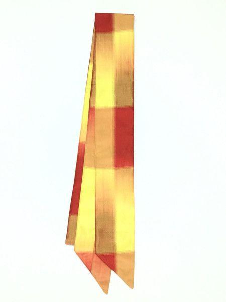 【Ribbon Scarf Orange,Red,Yellow Pattern | #MegumiProject】