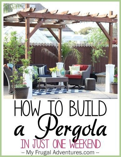 How to Build a Free Standing Pergola - awesome DIY