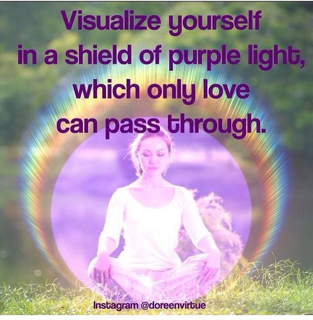 Protection prayer. Violet flame. Violet ray