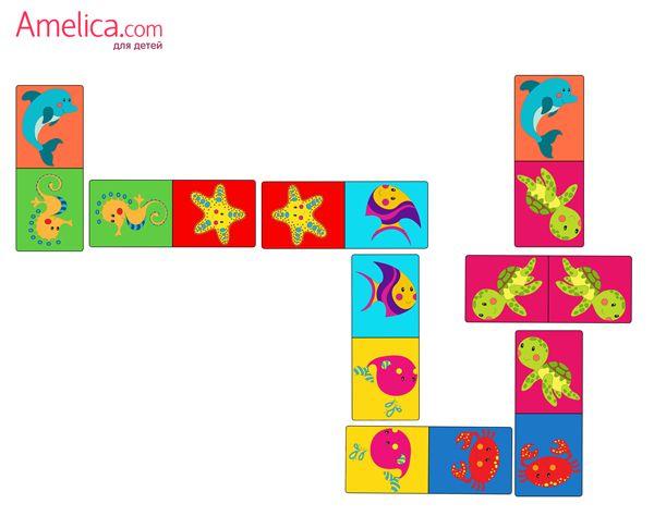 Домино бесплатно для детей 2, 3, 4, 5, 6 лет, настольные игры скачать бесплатно, распечатать для малышей, мальчиков и девочек и сделать своими руками дома