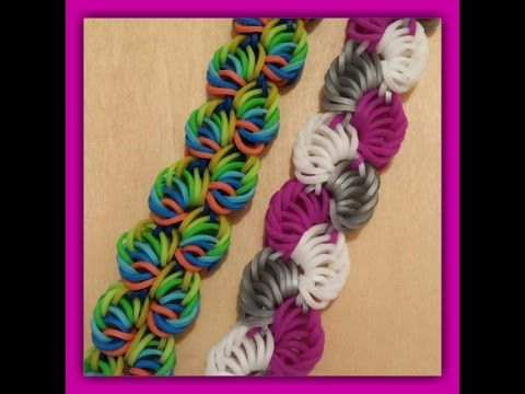 """New """" Sorbet Delight """" Hook Only Rainbow Loom Bracelet/ How To Tutorial. Would definitely look pretty using the rounded silicone bands."""