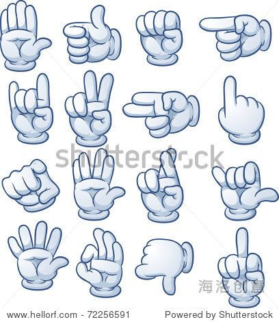 cartoon hands with g...