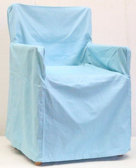Canvas Light Blue Chair Cover