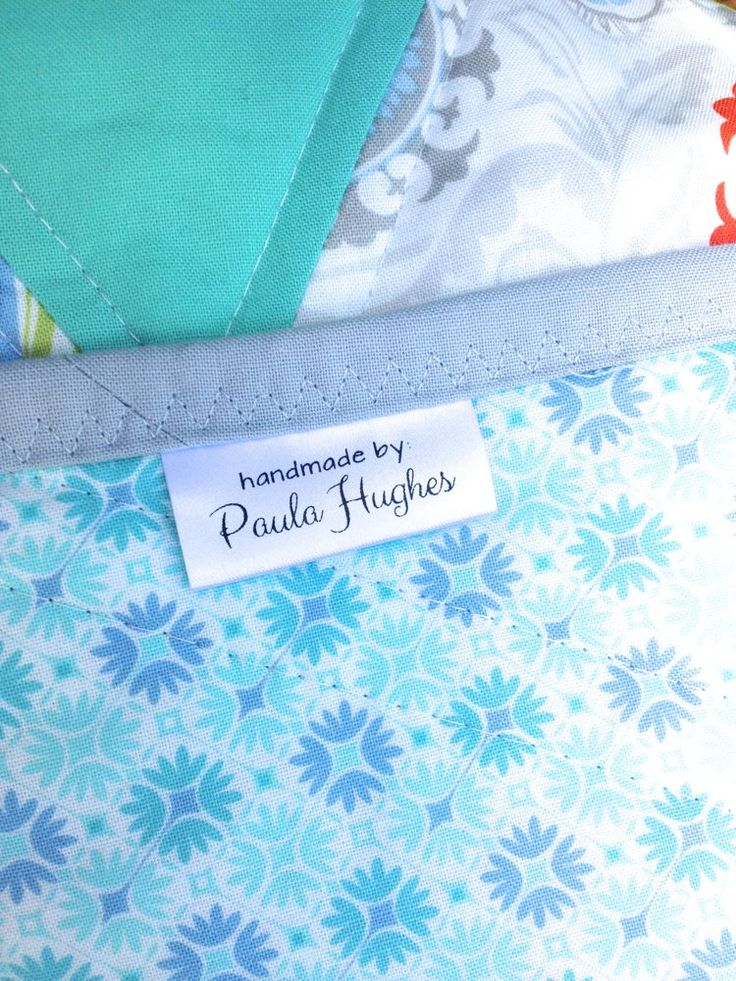 Create Your Own Quilt Labels Quilttips Pinterest
