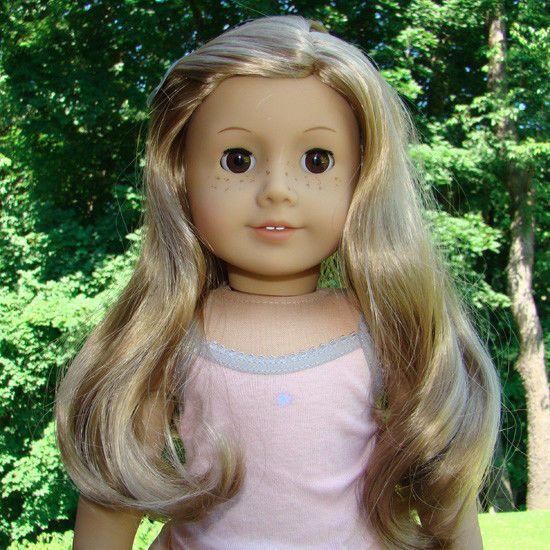 American Girl of Today Doll JLY Light Skin Freckles Blonde Hair Brown Eyes G 24 #AmericanGirl #Dolls