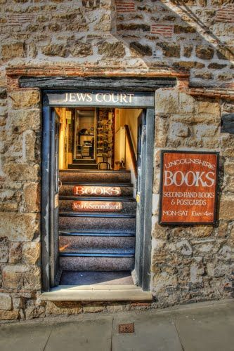 Jews Court Book shop. Steep Hill Lincoln, UK