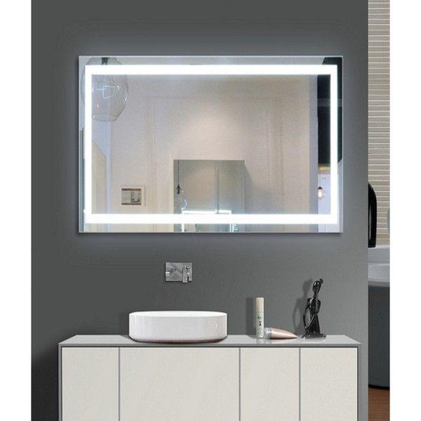 Harmony Illuminated Small Led Mirror Harmony Illuminated 48x35 Silver Aluminum