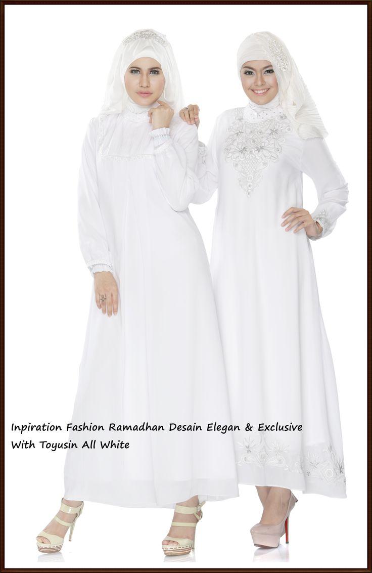 Gamis Putih dengan desain Exclusive