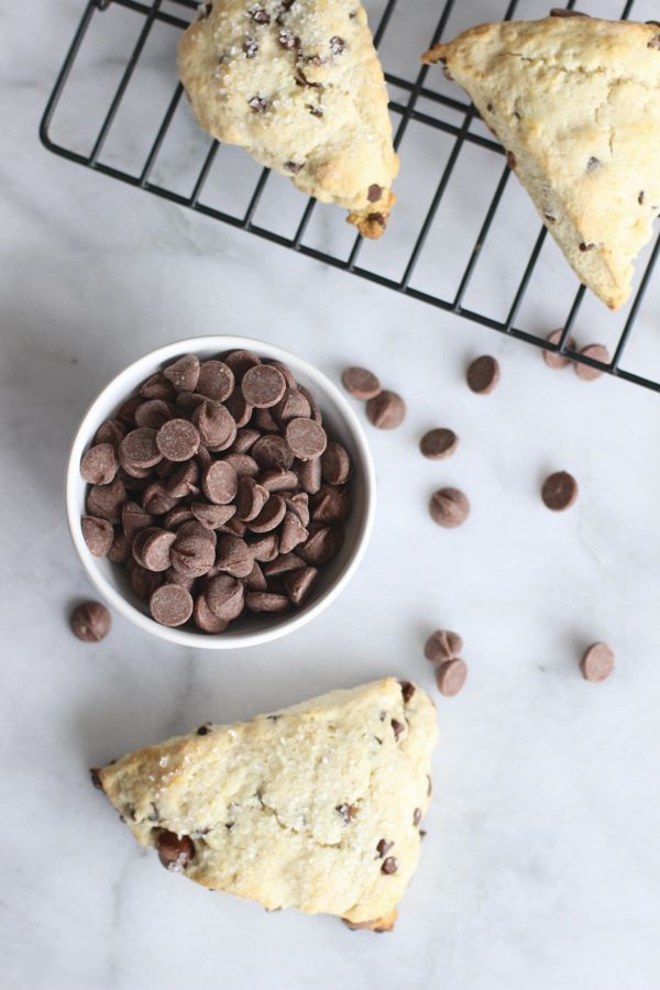 Chocolate Chip Scones Recipe via @mystylevita #desserts #breakfast #bread