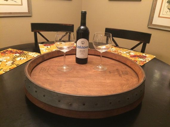 Wine Barrel Lazy Susan by SmoketreeBarrelCo on Etsy - this will be mine one day.  Once I don't live in someone else's house....