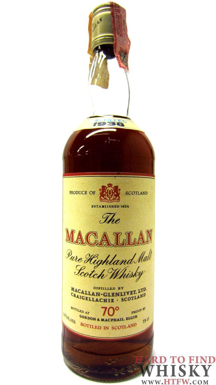 Investment Grade Single Malt Scotch Whisky Speyside Whisky Macallan Macallan - Pure Highland Malt - 1938 #singlemalt #scotchwhisky #maltwhisky