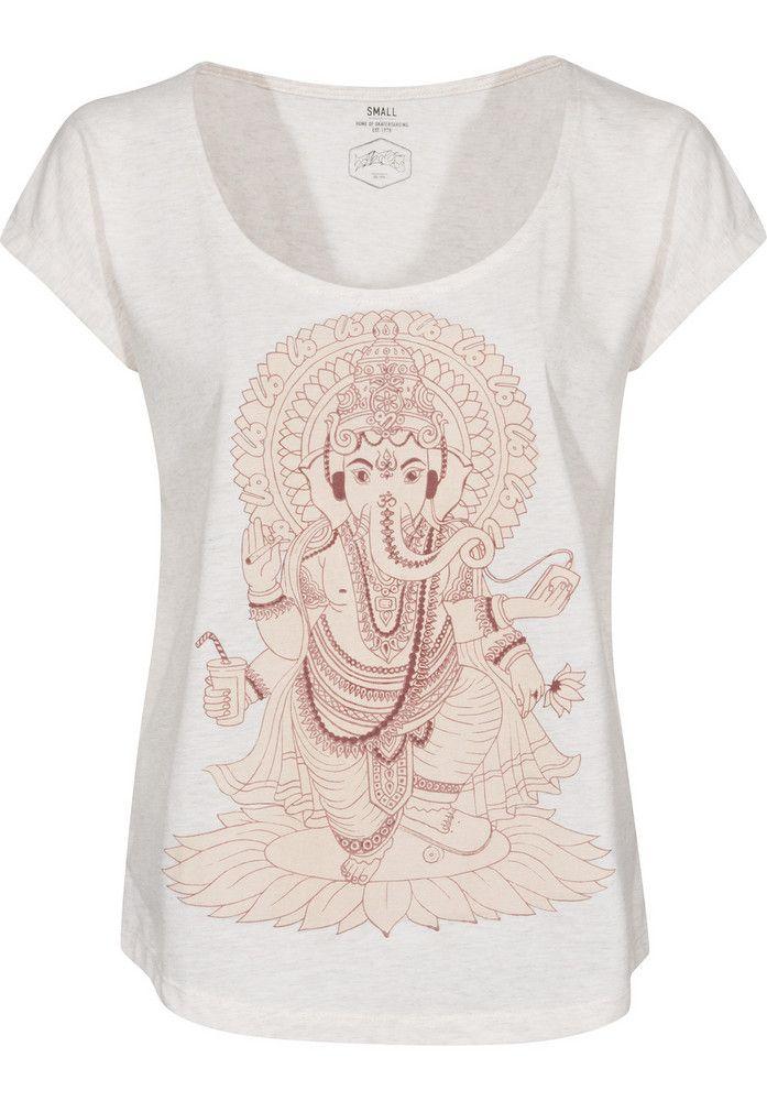 TITUS Ganesha, T-Shirt, beigemottled Titus Titus Skateshop #TShirt #FemaleClothing #titus #titusskateshop