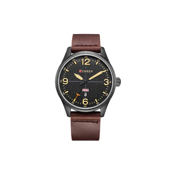 8265 Leather Strap Wrist Watch