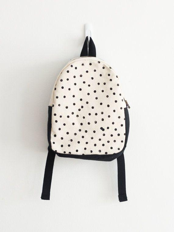 Toddler backpack Children's Backpack Polka dot by mulberryandjune