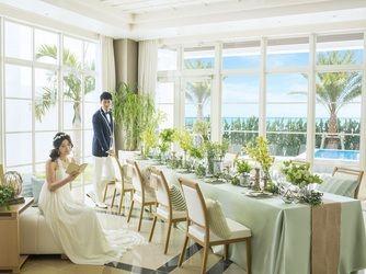 『セントレジェンダ 沖縄』 緑の多い気持ちいい空間 *沖縄 披露宴 会場一覧*