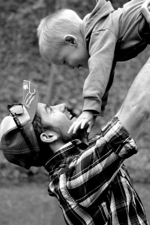Daddy && son picture there will be a picture like this, omg cute