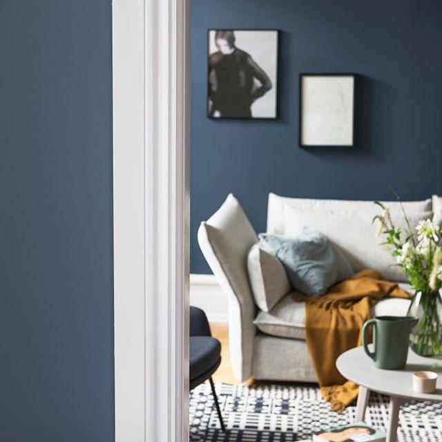 Det blir lunt og godt med LADY 4477 Deco Blue #decoblue #jotunlady #jotun #interior #interiordesign #interiør #inspiration #inspirasjon #blå
