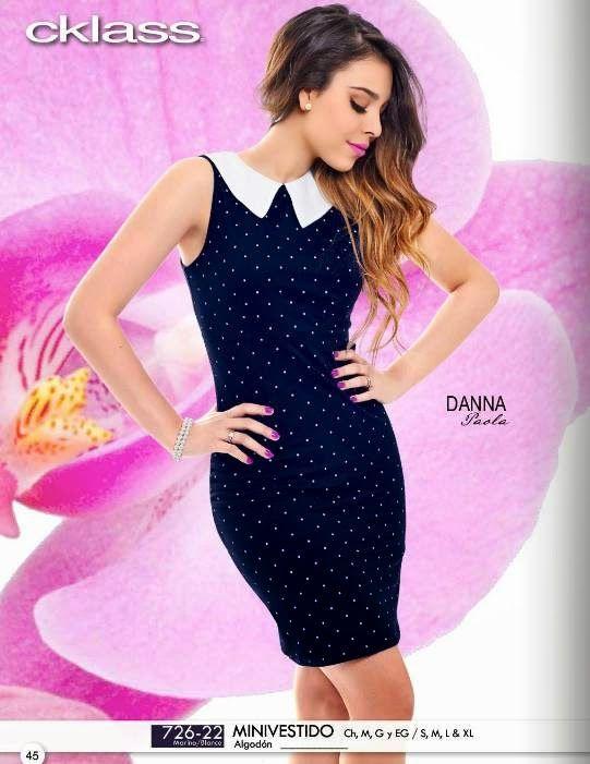 Minivestido modelado por Danna Paola, coleccion verano 2015 de Cklass