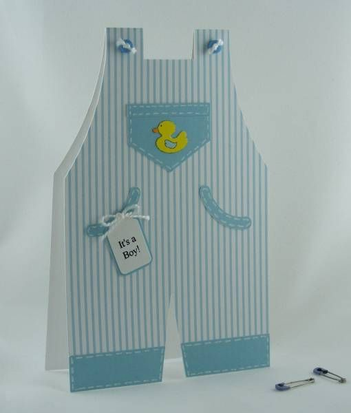 It's a boy overalls card by deeth1 - Cards and Paper Crafts at Splitcoaststampers