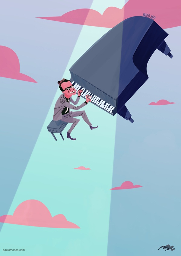 Jazzmen by Paulo Mosca, via Behance