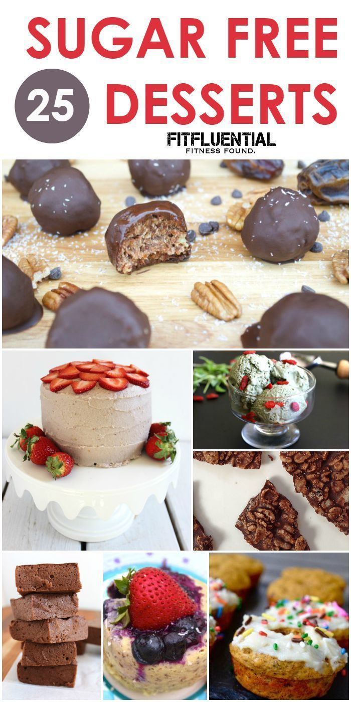 Sugar Free Dessert Recipes via @fitfluential #FitFluential #dessert #sugarfree
