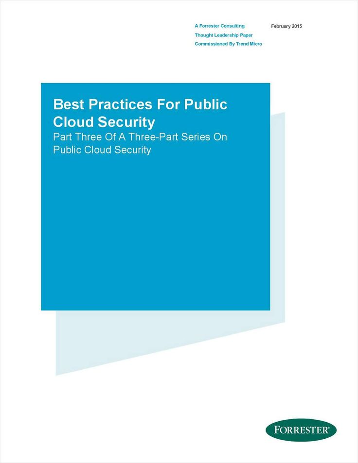 Forrester: Best Practices for Public Cloud Security