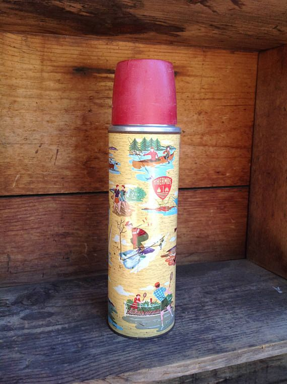 Vintage The SportsmanThermos Cabin Decor Recreational Sports