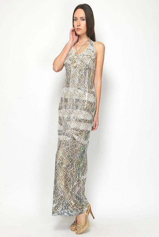 Φόρεμα μάξι δανδέλα