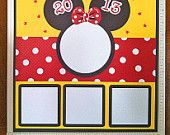 Minnie Mouse Premade Scrapbook Page