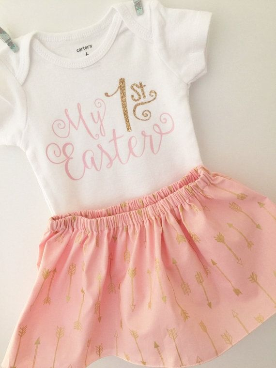 First Easter outfit  Baby Girl Outfit easter by BabyMaeBoutique