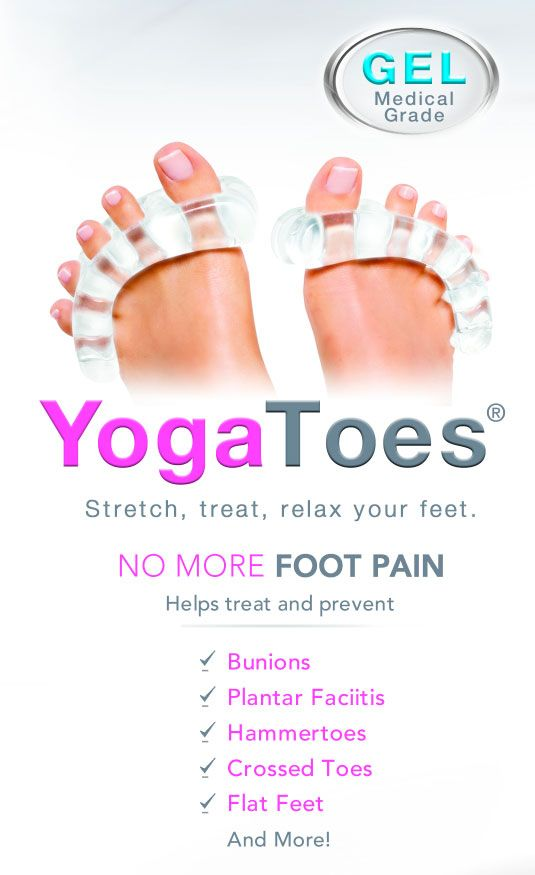 YOGA TOES are great for tired, twisted feet. I use them, I love them!