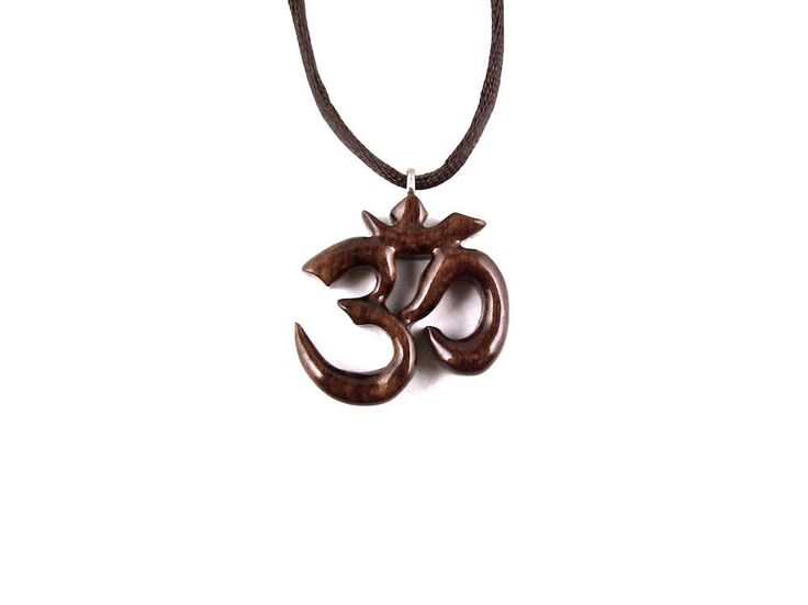 Om Pendant, Om Necklace, Om Yoga Jewelry, Wooden Om Yoga Necklace, Ohm Necklace, Namaste Jewelry, Hand Carved Ohm Necklace, Ohm Pendant by GatewayAlpha on Etsy