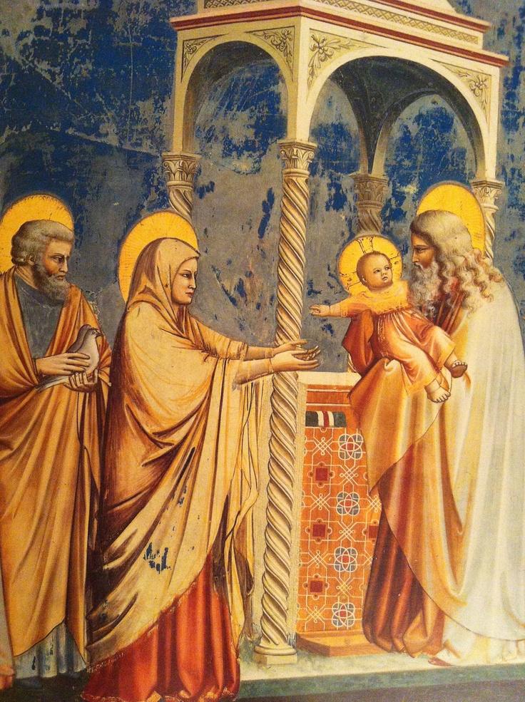 (laat) Gotiek. Giotto. Bewegelijker. Plasticiteit. Aureolen. Verhoudingen kloppen.