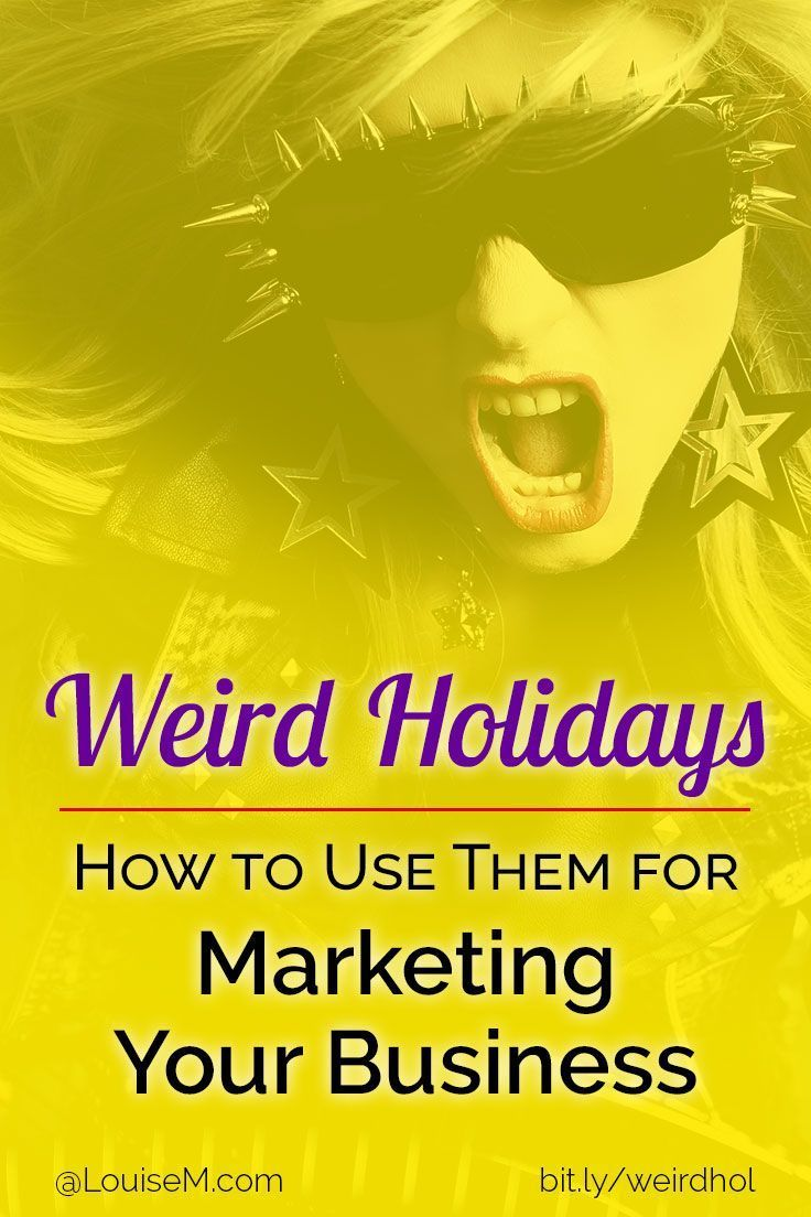 Small business marketing tips: Are weird holidays just wacky and nonsensical – or could they make sense (and dollars) for your business social media? Click to blog for creative ideas!