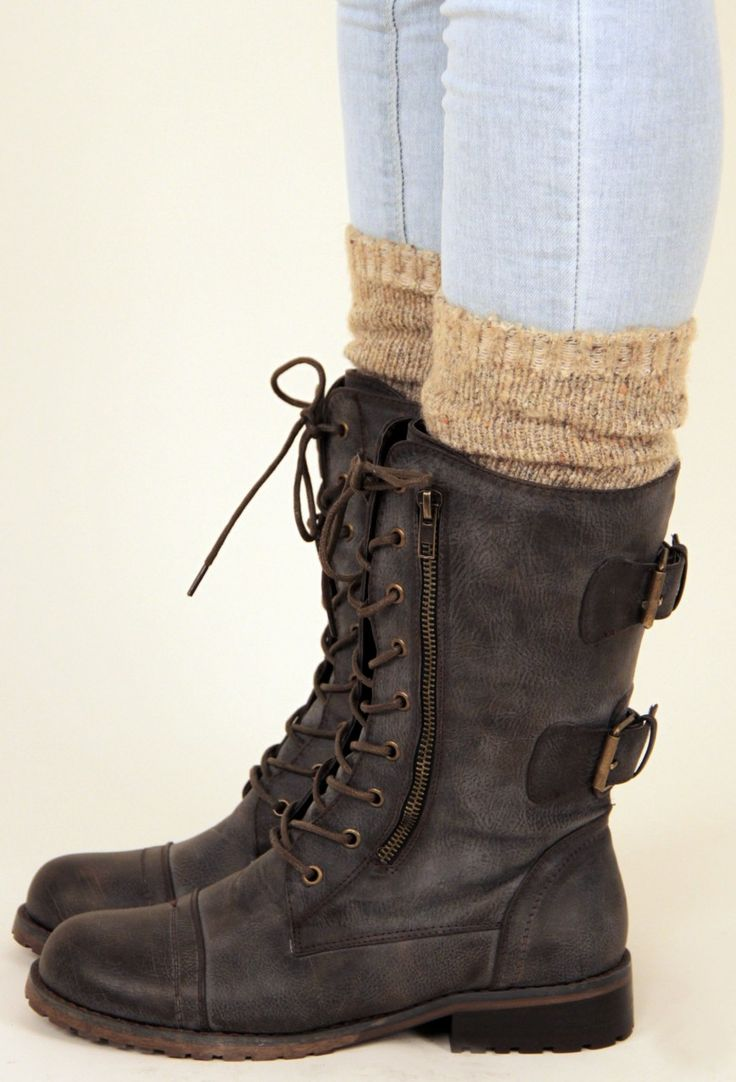 Cute for winter with all my skinny jeans!! Need some socks like that, though.