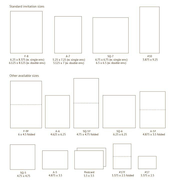 lovely wedding invitation sizes or 58 wedding invitation card measurements